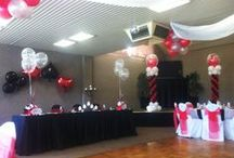 Balloon Themed Decor / Balloon decorations are made to order to suit your party, function or event.  Just tell us what you need and we'll do our best to make it for you.