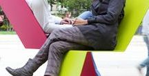 Mobilier TF Urban / mobilier urbain, outdoor, banc public, chaise, fauteuil, cendrier, corbeille, poubelle