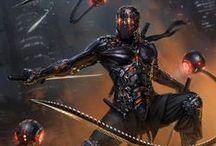 Sci fi Ninja Characters