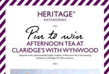 Pin to Win Tea at Claridge's / **THIS COMPETITION IS NOW CLOSED** We're celebrating the arrival of our Art Deco inspired Wynwood Bathroom suites with a fab new competition. You could win the chance to enjoy afternoon tea in the iconic surroundings of Claridge's, London.  Find out more here http://on.fb.me/1PaYHHq