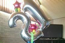 21st Birthday Balloons / balloon decorating ideas