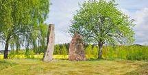 Hagbards galge / Hagbards galge, an ancient place used as a gallow to hang Hagbard, a norwegian viking.   https://en.wikipedia.org/wiki/Hagbard%27s_gallow