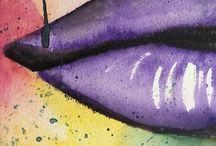 ArtBySaraKronholm / Watercolor art by me. Woman from Sweden