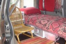Minivan -> Camper -> RV / Ideas for using a minivan like an RV, accommodating 2 big dogs and a single person.