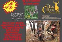 Oak Creek Whitetail Ranch Ads / Check out the ads from OCWR.  #monsterbucks #whitetaildeer #oakcreek #trophydeerhunting #recordbookwhitetails