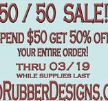 Promotions! @ Red Rubber Designs / Follow this board - you never know when a promotion will pop up to SAVE YOU MONEY on rubber art stamps and other crafty items!