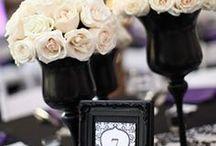 Black & White Wedding / Ideas for a black and white wedding