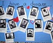 Holidays - MLK Jr. Day / Celebrate Martin Luther King Jr (MLK) Day with The Cheerful Chalkboard! Find ideas to decorate your classroom and home. Lesson plans, games, projects, activities, and more!