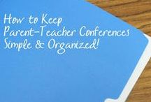 Special Events - Conferences / Prepare for the Parent-Teacher Conferences with The Cheerful Chalkboard! Find tips, forms, activities, and more.