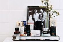 Powder Room / Organization, storage, and design ideas to make a beautiful space to primp in