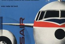 Retro airline graphics