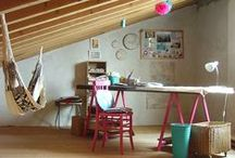 Craft rooms & Labs / How to organize a craft room!  Furnitures, tricks and ideas