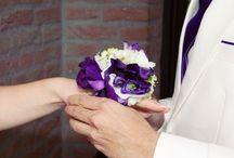bruiloft met lila en paars thema