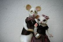Mouse family / Needle felted mouse - miniatures