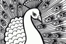 Patterns: peacocks - Minták: pávák