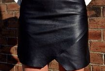 Leather Skirts / Leather skirts -I like their style!