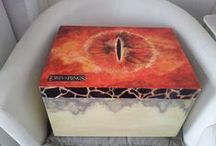 My decoupage and hand-painted boxes
