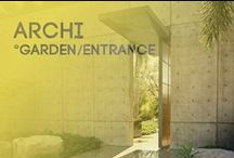 ARCHI - garden/entrance / All inspiration about the entrance of house or building, garden