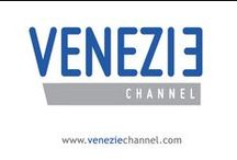 Venezie channel, visual identity / A new logo and a smart collection of visual elements to promote the Venezie channel brand.  Visual designer: Ferruccio Tasinato.