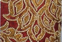 Mineral beads embroidery