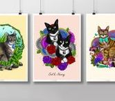 Pets Illustration by Nuryanti Eryz / Hello, i am Nuryanti Eryz. I am an illustrator based in Indonesia. This board is about my pets drawing portfolio. I open art commissions and all artworks start at $5. Feel free to contact me and visit my art shop for more informations. Thank you!