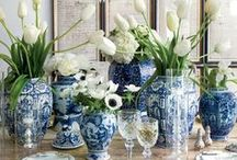 Blue & White / There is nothing more elegant than the classic combination of Blue & White.