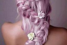 Unicorn head / Colored hair