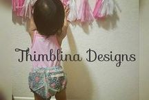Thimblina Designs / We take pride in the quality of our handmade products. All items are uniquely hand sewn with love especially for you. We sew a little bit of everything so stay posted for new products. www.etsy.com/shop/thimblinadesigns