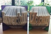 Book Art at Haverhill Library Suffolk / Take a look at some of the Book Art we have been creating at Haverhill Library Suffolk.