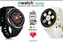 """Awatch Comet / Smartwatch phone 3G Android 5.1 round & camera """"Awatch Comet"""""""