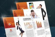 Newsletter Examples (Adobe Photoshop) / Business newsletter designed on photoshop