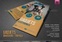 Electronics Store Brochure Template / Tri-Fold brochure design A4.