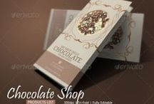 Chocolate Brochure Template / Brochure design for chocolate shops