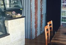 "Projects to Try / Love the metal, industrial look. Need corrugation to feature somewhere! M u s t    h a v e    t i n   Love wood, it's warmth & variation. Recycled timber, thick with character hidden in nooks  Love stone. Texture steeped in history. Cool & boldly stating ""I am here""  Organic, natural, comfortable, refined"
