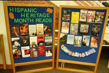 Hispanic Heritage Month / Materials selected for our Hispanic Heritage display