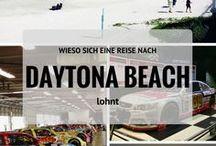 Daytona Beach / Daytona Beach liegt im US-Bundesstaat Florida am atlantischen Ozean. Bike Week. Spring Break. NASCAR Rennen. Und der legendäre Strand, an dem selbst das Autofahren erlaubt ist. Daytona Beach.
