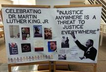 Martin Luther King Jr Day 2015 / Display of the books recommended for Martin Luther King Jr Day.