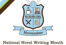 NaNoWriMo Display 2015 / National Novel Writing Month (NaNoWriMo) is a fun, seat-of-your-pants approach to creative writing. On November 1, participants begin working towards the goal of writing a 50,000-word novel by 11:59 PM on November 30.
