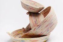 baskets, pedig, rope bowls