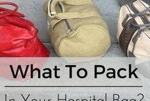 Hospital Bag / Do you know what you need in your hospital bag for the birth of your baby? Here are some tips!