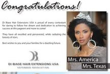 Di Biase Hair Extensions on Beauty Pageant Queens