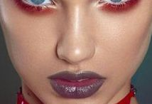 Red eye makeup