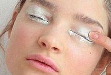 White eye makeup