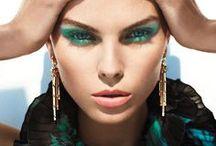 green eye makeup inspiration / zöld szemsmink