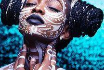 tribal / makeup inspiration - Valami ősi / Inspiráció