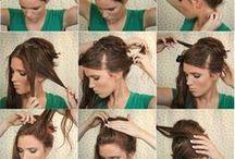 hairsyles how to do-  Frizurák, fonások lépésről lépésre