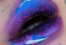 blue lips / kék rúzs / sminkek