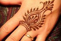 Simple Henna tattoo design /Egyszerű henna minták