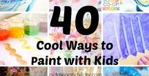 Painting with Kids / Children love to paint but painting does not need to be confined to a paintbrush. Use these suggested activities to let your child's creativity roam through various techniques. Find more resources on our website: http://seethelightshine.com/art