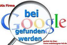 Webdesign und Google SEO / Alles zu meiner Arbeit als Webdesigner und Google SEO Spezialist